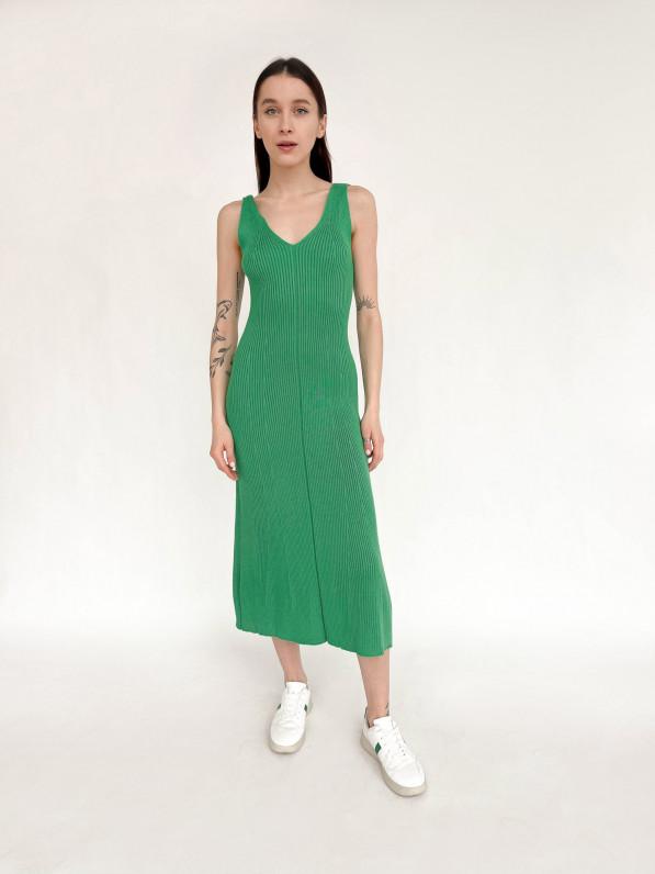 Платье «Вязка» зелёный D10150018