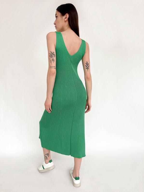 Платье «Вязка» зелёный