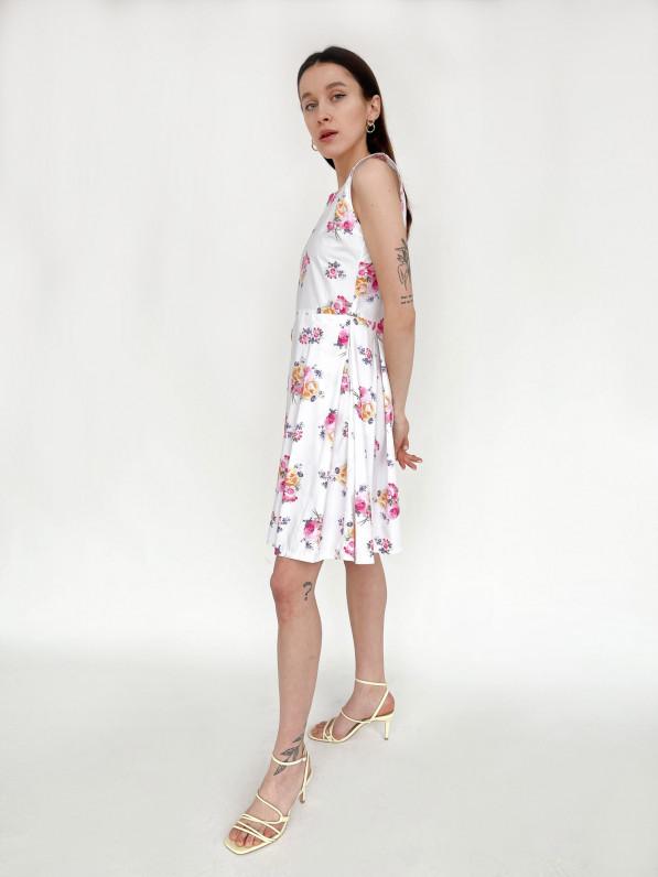 """Платье-мини """"Цветы"""" D10100038"""