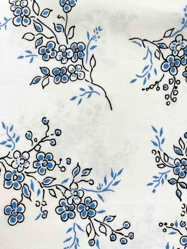 Блуза «Голубые цветы» D11100008