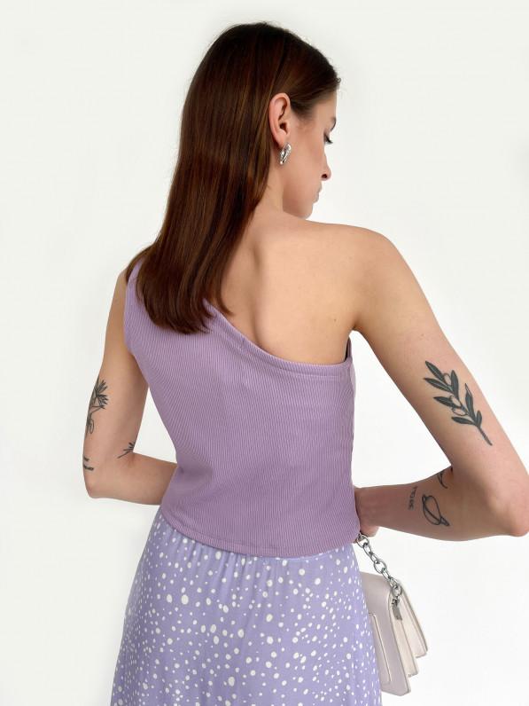 Топ с открытым плечом, лиловый D11979004
