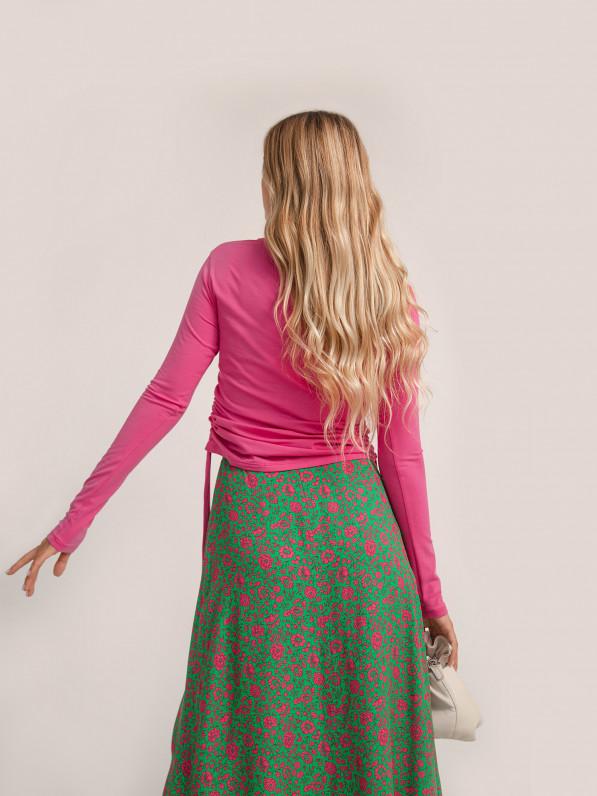 Кофта с завязками, розовая D10271029