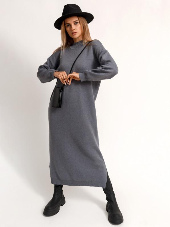 Платье-миди, вязанное D10110022