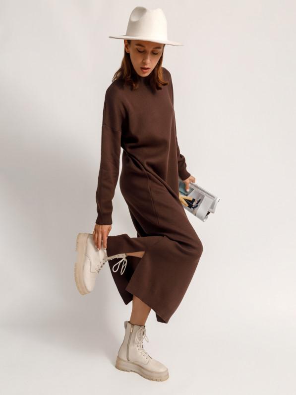 Платье-миди, вязанное D10198036