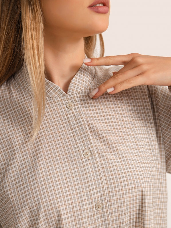 Рубашка удлиненная «Клетка» D11472007