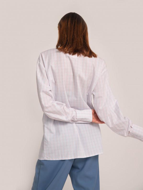 Рубашка «Базовая» клетка белая D11400008